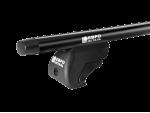 Багажник на рейлинги, 110 см, аэродинамика черная (ЕвроДеталь)